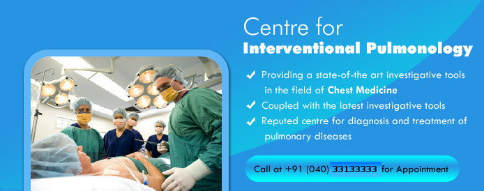 Centre for Interventional Pulmonology, Providing a state of the art investigative tools in the field of chest medicine, coupled with the latest investigative tools, reputed centers for diagnosis and treatment of pumonary diseases
